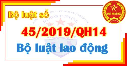 Bộ luật 45/2019/QH14 Bộ luật lao động