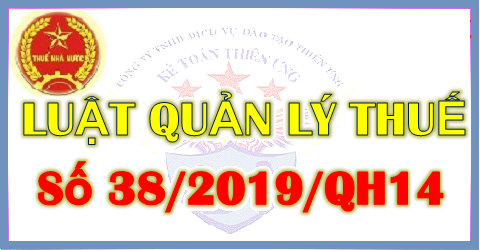 Luật số 38/2019 - Luật quản lý thuế