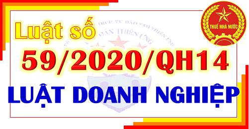 Luật số 59/2020/QH14 - Luật Doanh nghiệp