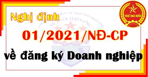 Nghị định 01/2021/NĐ-CP về đăng ký doanh nghiệp
