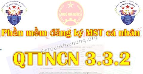 Phần mềm đăng ký MST cá nhân QTTNCN 3.3.2 mới nhất 2019