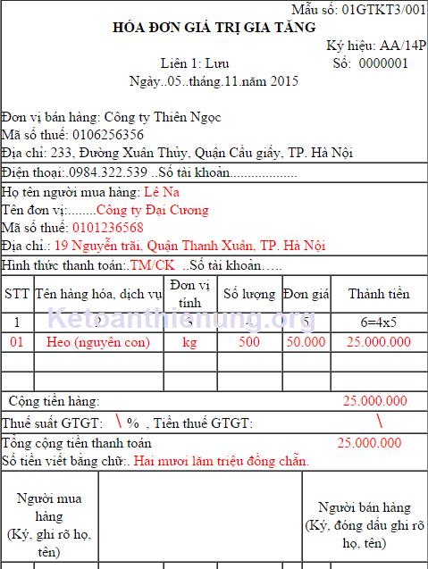 Cách viết hóa đơn - Kê khai - Hạch toán hàng không chịu thuế GTGT