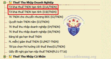 Hướng dẫn cách kê khai thuế TNDN tạm tính quý