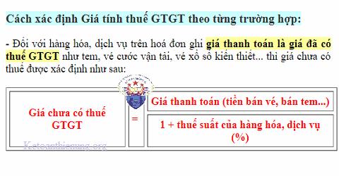 Cách xác định giá tính thuế GTGT mới nhất