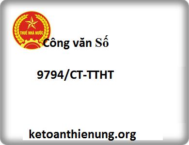Công văn Số 9794/CT-TTHT kê khai thuế Chiết khấu thương mại