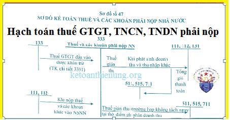 Hạch toán các khoản thuế phải nộp cho nhà nước - TK 333