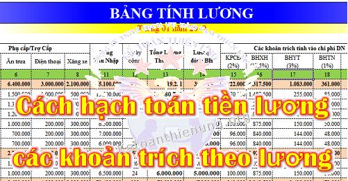 Hạch toán tiền lương và các khoản trích theo lương theo Thông tư 200 và 133