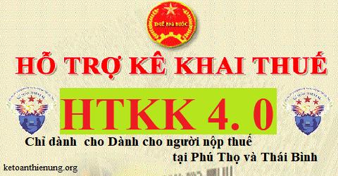 Phần mềm hỗ trợ kê khai thuế HTKK 4.0 mới nhất