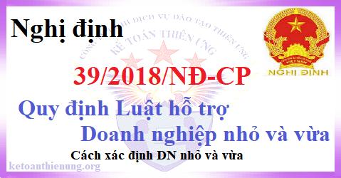 Nghị định 39/2018/NĐ-CP hướng dẫn hỗ trợ Doanh nghiệp nhỏ và vừa