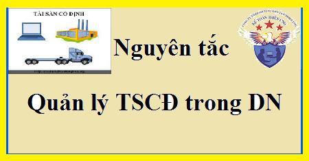 Nguyên tắc quản lý TSCĐ trong Doanh nghiệp