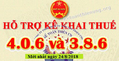 Phần mềm Hỗ trợ kê khai thuế HTKK 4.0.6 và 3.8.6 mới nhất