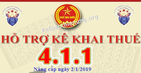 Phần mềm HTKK 4.1.1 mới nhất ngày 2/1/2019