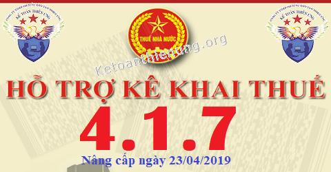 Phần mềm HTKK 4.1.7 mới nhất 23/04/2019