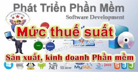 Thuế suất thuế GTGT, TNDN đối với Doanh nghiệp phần mềm