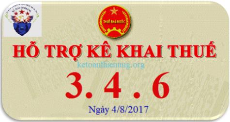 Phần mềm hỗ trợ kê khai HTKK 3.4.6 ngày 4/8/2017