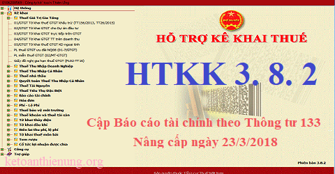 Phần mềm Hỗ trợ kê khai HTKK 3.8.2 mới nhất 2018