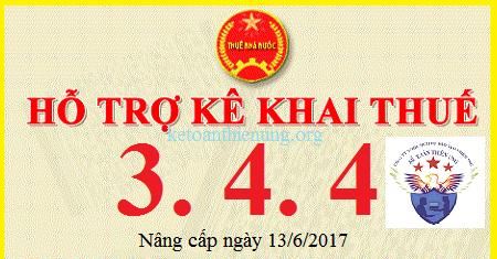 Phần mềm hỗ trợ kê khai thuế HTKK 3.4.4