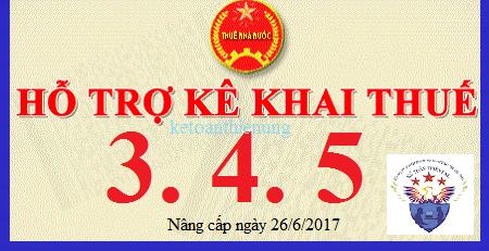 Phần mềm HTKK 3.4.5 mới nhất 26/6/2017