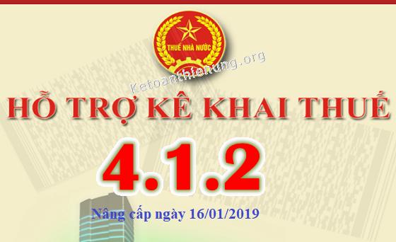 Phần mềm HTKK 4.1.2 mới nhất ngày 16/01/2019