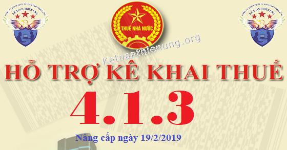 Phần mềm HTKK 4.1.3 mới nhất 19/02/2019