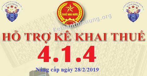 Phần mềm HTKK 4.1.4 mới nhất 28/02/2019