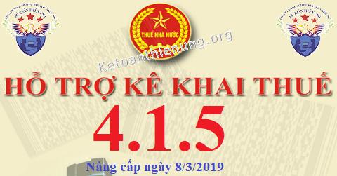 Phần mềm HTKK 4.1.5 mới nhất 08/03/2019