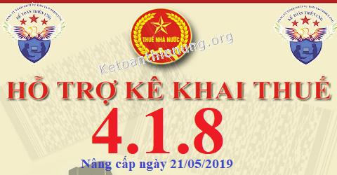 Phần mềm HTKK 4.1.8 mới nhất 21/05/2019