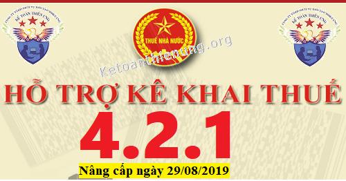 Phần mềm HTKK 4.2.1 mới nhất 29/08/2019
