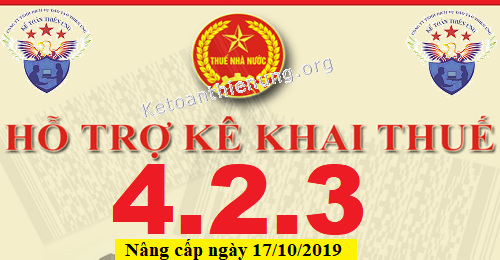 Phần mềm HTKK 4.2.3 mới nhất 17/10/2019