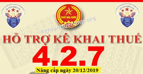 Phần mềm HTKK 4.2.7 mới nhất 20/12/2019