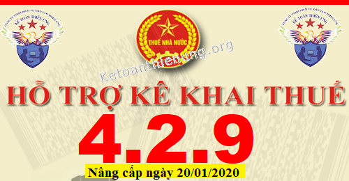Phần mềm HTKK 4.2.9 mới nhất 20/01/2020