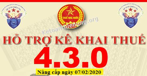 Phần mềm HTKK 4.3.0 mới nhất 07/02/2020
