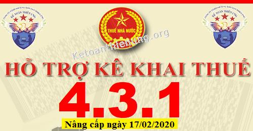 Phần mềm HTKK 4.3.1 mới nhất 17/02/2020