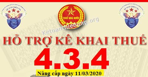 Phần mềm HTKK 4.3.4 mới nhất 11/03/2020