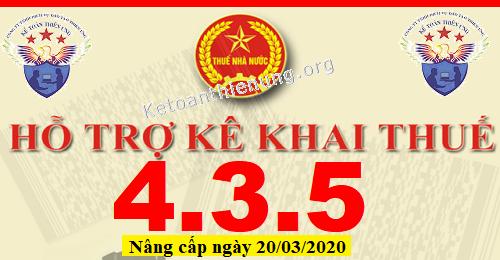 Phần mềm HTKK 4.3.5 mới nhất 20/03/2020