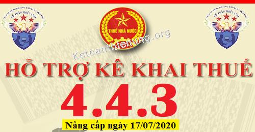 Phần mềm HTKK 4.4.3 mới nhất 17/07/2020