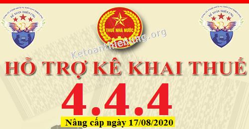 Phần mềm HTKK 4.4.4 mới nhất 17/08/2020