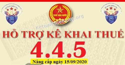 Phần mềm HTKK 4.4.5 mới nhất 15/09/2020