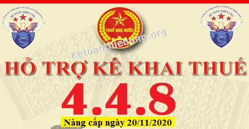 Phần mềm HTKK 4.4.8 mới nhất 20/11/2020