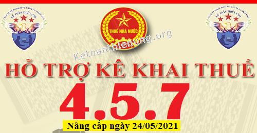 Phần mềm HTKK 4.5.7 mới nhất 24/05/2021