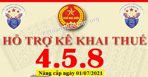 Phần mềm HTKK 4.5.8 mới nhất 01/07/2021