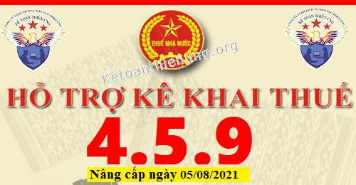 Phần mềm HTKK 4.5.9 mới nhất 05/08/2021