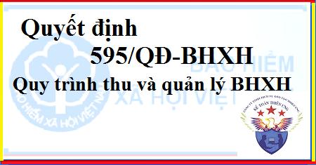 Quyết định 595/QĐ-BHXH Quy trình thu BHXH, BHYT, BHTN