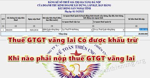 Thuế GTGT vãng lai có được khấu trừ? Khi nào phải nộp