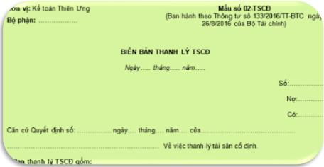 Mẫu Biên bản thanh lý TSCĐ theo TT 200 và 133